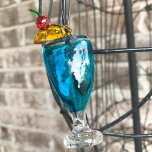 Cocktail Ornament Blue Christmas Girlfriend